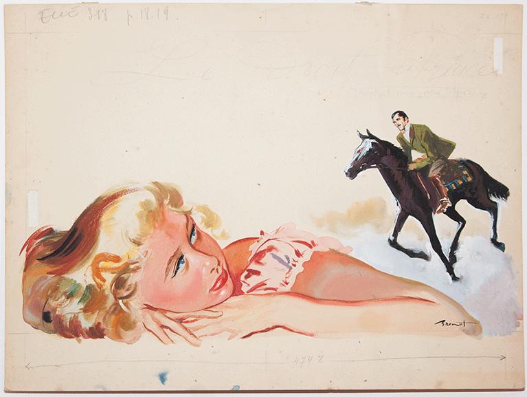 Illustration originale pour le livre Le droit du Prince 1952