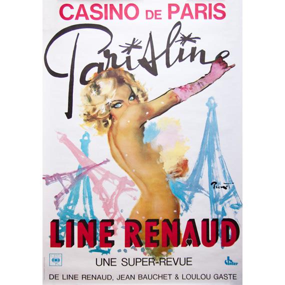 Affiche ParisLine, Line Renaud au Casino de Paris